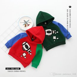 manteau d'hiver de style coréen enfants Promotion 4 couleur Vente chaude style coréen Cartoon fusée train enfants Hoodie manteau coton automne hiver chaud Hoodie manteau livraison gratuite