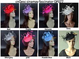 Фиолетовая фетровая шляпа онлайн-Шляпа NEW Felt Fascinator Кентукки дерби для чаепития Wedding Races. Красный, серебристый, пудровый синий, кораллово-розовый, ярко-розовый, фиолетовый, слоновая кость, черный