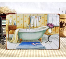 "Wholesale Vintage Bathroom Poster - X-0269 new arrival about "" bathroom ""metal tin signs vintage decorative plates poster wall art craft 20X30cm"