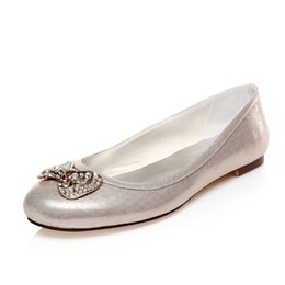 Wholesale Ballet Shoes Size 11 - 2016 New Style Comfortable Flat Ballerina Low Heel Bridal Shoes Wedding Dress Shoes Handmade Shoes Evening Shoes Prom Party Shoes Size 42