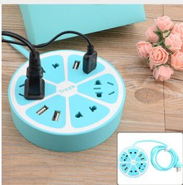 Wholesale Multi Purpose Remote - Lemon Design Extension Socket with USB Port Remote Socket for IOS Android Smart Multi-purpose Smart Power Strip Home Electronics