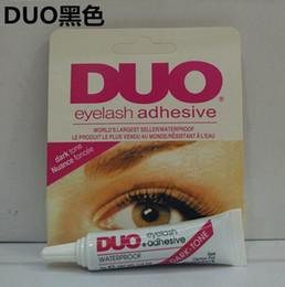 Wholesale Duo Eyelash Glue Clear White - Adhesive DUO Eye Lash Glue False Eyelashes Clear White & black Makeup Adhesive WATER PROOF Eyelash Adhesive 9G Makeup Tools