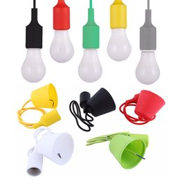 Wholesale Lamp Bases Wholesale - Cable Edison Vintage Retro Lamp Base holde European and American style Bases Colorful Silicone Lamp Holder holder base Cable