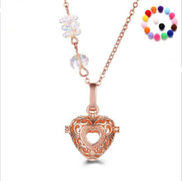 Wholesale Wholesale Crystal Cages - Snow crystals pearl accessories Disffuser Dolphins Necklace Locket Essential Oil Diffuser Necklaces Hollow out Locket Cage Pendant Necklace