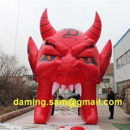 Atractiva 16 pies alta enorme inflable de Halloween Diablo arco con el CE soplador Para 2019 Discoteca La entrada decoración de Halloween desde fabricantes