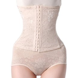 Wholesale Womens Shapers - Wholesale-Womens sexy ladies high waist shapers shapewear with steel boning waist training corset tummy waist slimmer belt