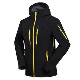 Wholesale Gore Tex Waterproof Jacket - Wholesale-2016 High Quality Active Shell Jacket Winter Brand Hiking Softshell Jacket Men Windproof Waterproof Thermal For Hiking Camping