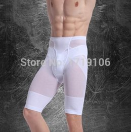 Wholesale Men S Buttocks - Wholesale-Men' s Slimming Pants Fifth Body Shaper Carry Buttock Thin Leg Gym sport track Male Tighten Belly Waist Dewlap Underwear d025