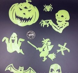 Wholesale Wacky Halloween - Free shipping Creative wacky Halloween Halloween luminous strips Fluorescent light wall stickers Plastic 3 d wall stickers