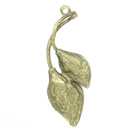 Wholesale Antique Leaf Pendant - Charm Pendants Leaf Antique Bronze 3.7x1.3cm,50PCs 2016 new jewelry making DIY