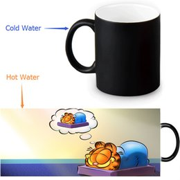 Wholesale Wholesale Custom Designs China - Wholesale- Garfield Custom Made Design Water Coffee Mug Novelty Gift Mugs Morphing Ceramic Mug 12 OZ Office Home Mugs