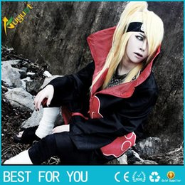 Wholesale Naruto Cosplay Wholesale - Hot slae New Fashion Unisex Cosplay Costumes Japan Anime Naruto Itachi Akatsuki Cosplay Robes Cloak Party Costumes