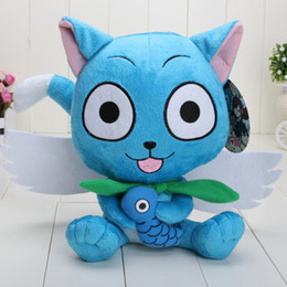 Wholesale Tails Doll - In Stock High quality Fairy Tail Cute Happy plush Doll Stuffed toy approx 23cm free shipping