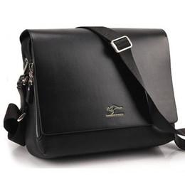 Wholesale Kangaroo Kingdom - New KANGAROO KINGDOM Men's Leather PU Bags Hot Designer Handbags Top Fashion Shoulder Bags On Sale Cool Bags 2 Colors 12 Size