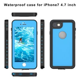 Wholesale Apple Snow - NEW Waterproof Shockproof Dirt Snow Proof Durable Dot Case Cover for Apple iPhone 7 4.7'' 5.5'' 8 colors