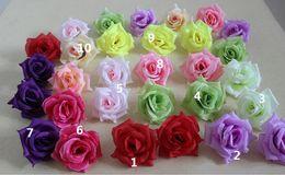 Wholesale Blue Rose Camellias - Rose head Diameter 7-8cm Artificial Flowers Silk Camellia Rose head Artificial Silk Camellia Rose Flower Head FB003