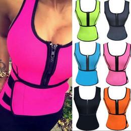 Wholesale Slimming Belt Vest - Neoprene Sauna Vest Body Shaper Slimming Waist Trainer Hot Shaper Summer Workout Shapewear Adjustable Belt Corset 8 color KKA2738