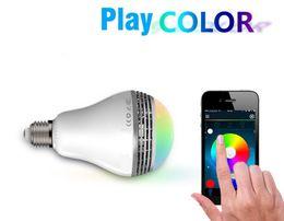 Wholesale E27 Led Iphone - 2016 Newest PLAYBULB Smart LED Bulb Light Wireless Bluetooth Speaker 110V - 240V E27 3W Lamp Audio for Android ISO iPhone iPad