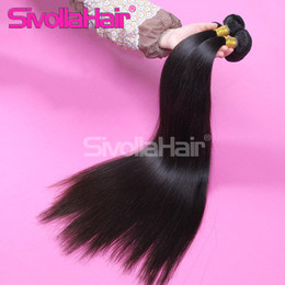 Wholesale Indian Brazil Hair - Brazilian Human Original Straight Hair Natural Color 1B Dyeable and NO shedding,Malaysian,Indian,Peruvian 100% Brazil Human Hair Weaves 3pcs