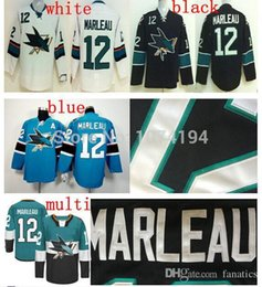 Wholesale Dry Sell - Hot Selling 2016 San Jose Sharks #12 Patrick Marleau Jersey Discount Black Third Hockey Jersey Stitched Authentic White Green