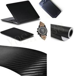 Wholesale Carbon Fiber Auto Stickers - 30x152cm Car Sticker Carbon Fiber Vinyl Auto Wrapping Film Fiber Car Motocycle Sticker Waterproof 3D Carbon Fibra de Carbono