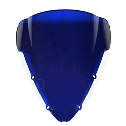 Wholesale F4i Honda - Injection ABS Double Bubble Tinted Windshield For Honda CBR600 F4i Year 2001 2002 2003 2004 2005 2006 2007 Windscreen