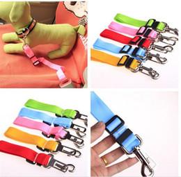 Wholesale Designer Dog Collars Leads - 300pcs 10 colors Pet Dog Car Seat Belt Collar Puppy Dogs Lead Designer Collars Adjustable Portable Harness Rope D635