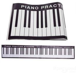 Wholesale Piano Desk - 88 Keys Piano Practice Keyboard Sticker On Desk Exercises