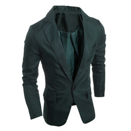 Wholesale Dark Green Coat Men - 2016 Regular Mens Jacket Coat High Quality New Arrival Unique China Factory Men Fitted Blazers Men Jackets and Coats Cheap