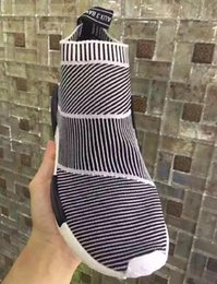 Wholesale Kids Socks Free Shipping - 2017 New High Quality NMD City Sock Primeknit Fashion Grey White Outdoor Sports Casual Free free Shipping kids
