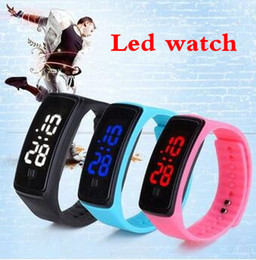 Wholesale Touch Screen Watches Woman - 2017 Hot Fashion Sport LED Watches Candy Jelly men women Silicone Rubber Touch Screen Digital Watches Bracelet Wrist watch good gift
