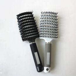 cepillos de ventilación al por mayor Rebajas Venta al por mayor-2016 Nuevo antiestático Curvo Vent Curve Vent Barber Salon Hair Styling Tool Filas Tine Comb Brush Brush Hairbrush Envío gratis