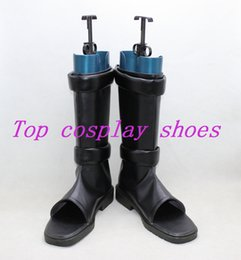 Wholesale Custom Ninja Costume - Wholesale-Freeshipping anime Naruto Sai Cosplay Boots shoes Ninja Hand made custom-made for Halloween Christmas