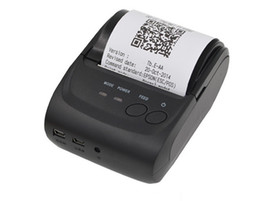 Wholesale Pos Printers - Paper Capacity 58mm Mini Portable Thermal Printer Thermal Printer Receipt POS-5802LD for Windows Android Smartphone with Bluetooth 4.0 4.3