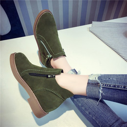 Wholesale Ladies Shoes Zipper - New 2017 Autumn winter casual women warm boots zipper PU leather style fashion boots shoes botas Mujer ladies D021