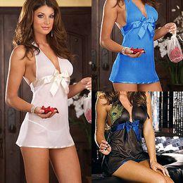 Wholesale Sexy Nightwear Wholesale - Wholesale-Women Lace Bride Underwear Lingerie Dress Nightwear Sexy Sleepwear Gstring