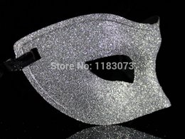 Wholesale Glitter Spray Wholesale - Glitter Spray Venice Masks Halloween Masquerade Party Costume Props Half Face Mask Three Color 20pcs lot Free Shipping