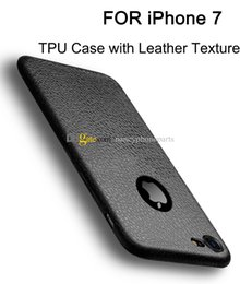 Wholesale Iphone Leather Texture Case - FOR iPhone 8 Back Covers Soft TPU Silicone Case FOR iPhone 6 6S 7 Plus Leather Texture Phone Protectors