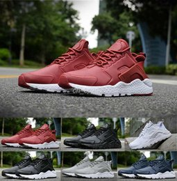 Wholesale Spring Shoes For Women - 2016 New air Huarache 3 III Running Shoes For Women & Men,Black White Red Leather High Quality Sneakers Huaraches Sport Shoes 36-45