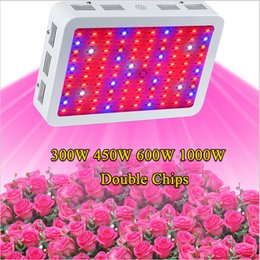 Wholesale Full Spectrum Grow Lights - Full Spectrum 300W 600W 800W 1000W 1200W 1600W Double Chip LED Grow Light Red Blue White UV IR For hydroponics and indoor plants