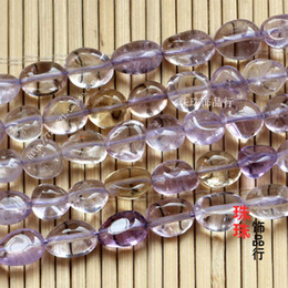 Wholesale Natural Ametrine Crystal - DIY jewelry beads accessories natural crystal stone beads Ametrine rounded pebbles Ametrine with beads