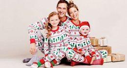 Wholesale Christmas Nightwear Children - hot fashion baby suits Children Kids Boy Girl Xmas Clothes sets long sleeve tshirt +pants Sleepwear christmas Nightwear Pajamas top Set 2-7T