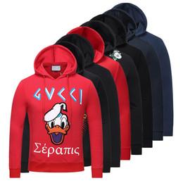 Wholesale Designer Fashion Hoodies - Luxury Brand Designer hoodies for men women Italy Fashion Snake Donald Duck Tiger Print Men's Hoodies & Sweatshirts Palace mens jackets
