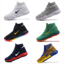 Wholesale Usa Olympic Basketball - New Arrival Hyperdunk 2017 Lapel Paul George Weaving Men's Basketball Shoes for Top quality Olympic USA Oreo Grey Wolf Sneakers Size 40-46
