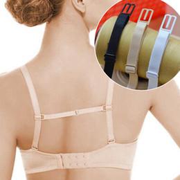 Wholesale Belt Shoulder Bra Straps - Wholesale-Double-shoulder strap slip-resistant belt buckle shoulder strap bra with back hasp sports non-slip New 3 Colors
