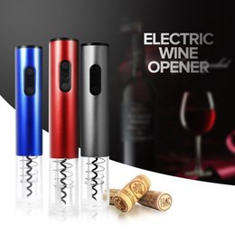 Wholesale Electric Bottle Opener Wine - Original Automatic Wine Bottle Opener Kit Automatic Corkscrew Electric Wine Opener Cordless With Foil Cutter And Vacuum Stopper