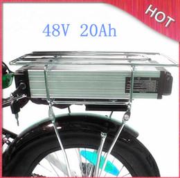 Canada Batterie arrière électrique de batterie de la batterie 48V 20Ah de batterie de la capacité élevée 1000W batterie arrière de support avec le chargeur de BMS 54.6V 2A libre Shpping Offre