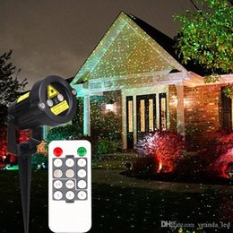 Wholesale Laser Christmas Lights Wholesale - Christmas Laser garden lights decoration lamp red and green light auto strobe outdoor waterproof lawn light timer control stage lights