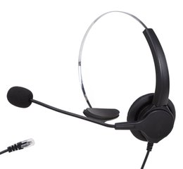Wholesale Noise Cancelling Telephone - Hands-free Call Center Noise Cancelling Corded Monaural Headset Headphone for Desk Telephone with 4-pin Rj9 Crystal Head