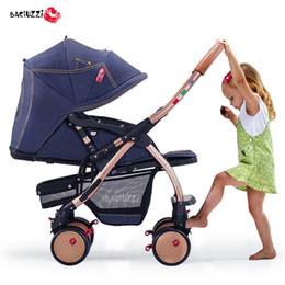 Wholesale Two Fold Umbrella - Fashion Light Portable Children Umbrella Cart, Folding Baby Stroller, Two-way Pushchair Can Sit & Lie Down, 4 Wheels, Suspension